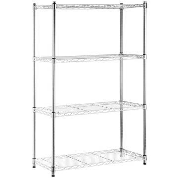 Wire Shelving Chrome Adjustable Steel Metal Rack Commercial Shelf